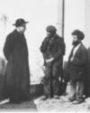 don A. Grittani con i primi poveri dell'Opera